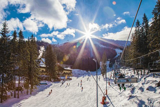 Druzba jarná lyzovačka exteriér